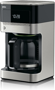 Braun Flavorselect Coffee Maker Manual : Braun 12 Cup Brew Sense Coffee Maker in Stainless Steel and Black KF7150BK