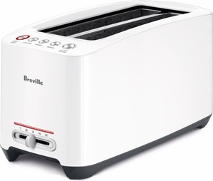 Breville Lift & Look 4 Slice Long Slot Toaster White - Click to enlarge
