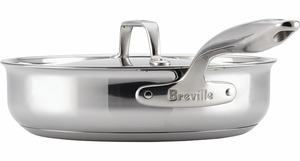 Breville Thermal Pro® Clad Stainless Covered Sauté - Click to enlarge