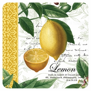 Cala Home Set of 4 Citron Coasters - Click to enlarge