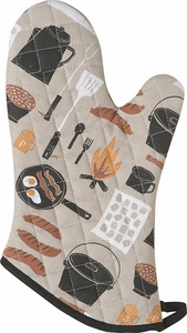 Camp Cookout Oven Mitt - Click to enlarge
