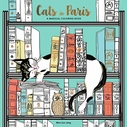 Cats in Paris Coloring Book