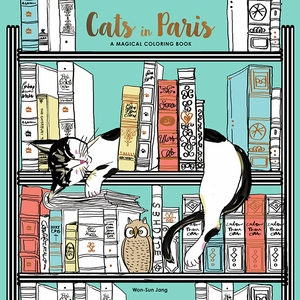 Cats in Paris Coloring Book - Click to enlarge