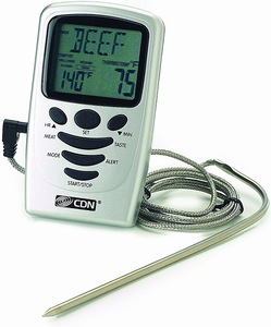 CDN Programmable Probe Thermometer & Timer - Click to enlarge