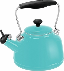 Chantal 2 Quart Vintage Tea Kettle Aqua - Click to enlarge
