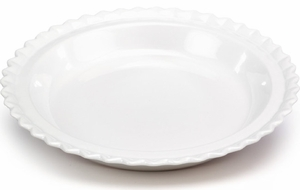 "Chantal 9"" Pie Dish White - Click to enlarge"