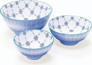 Chantal Set of 3 Patterned Bowls - Click to enlarge