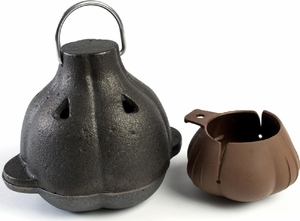 Charcoal Companion Cast Iron Garlic Roaster and Squeezer Set - Click to enlarge