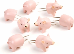 Charcoal Companion Set of 8 Pig Corn Holders - Click to enlarge