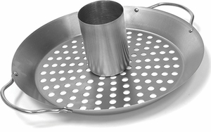 Charcoal Companion Stainless Steel Convertible Wok & Vertical Roaster - Click to enlarge