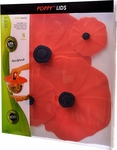 Charles Viancin 4-piece Poppy Lid Set