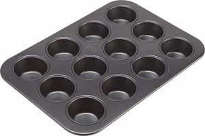 Chicago Metallic 12 Cup Non Stick Muffin Pan - Click to enlarge