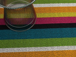 Chilewich Shag Rug Multi Bold Stripe - Click to enlarge