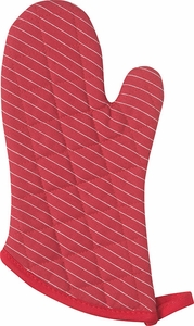 Chili Pinstripe Superior Oven Mitt - Click to enlarge