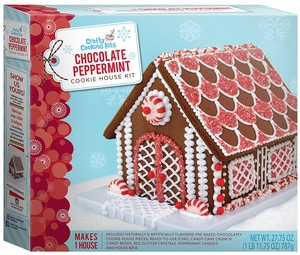 Chocolate Peppermint Cookie House Kit - Click to enlarge