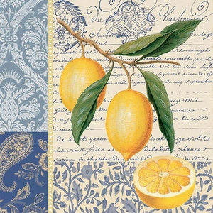Citron Paper Beverage Napkins - Click to enlarge