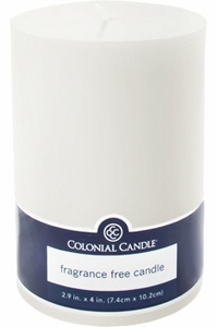 Colonial Candle Pillar Candle White - Click to enlarge