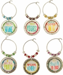 Cork It Metal Wine Charm Set