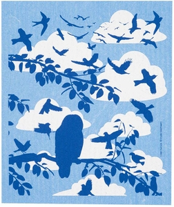 Cose Nuove Clouds & Birds Swedish Dish Cloth - Click to enlarge