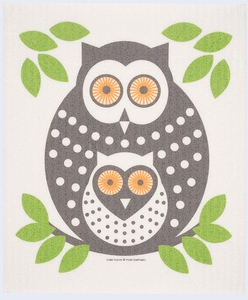 Cose Nuove Green Owl Swedish Dish Cloth - Click to enlarge