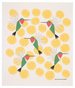 Cose Nuove Hummingbirds Dishtowel - Click to enlarge