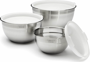 Cuisinart Set of 3 Mixing Bowls with Lids - Click to enlarge