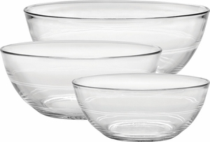 Duralex Set of 3 Lys Clear Bowls - Click to enlarge