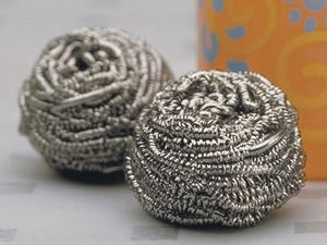 Endurance Set of 2 Stainless Steel Scrubbies - Click to enlarge