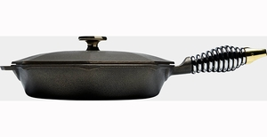 Finex Cast Iron Skillet with Lid - Click to enlarge