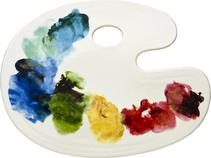 Fishs Eddy Artist Palette Cheese Tray - Click to enlarge