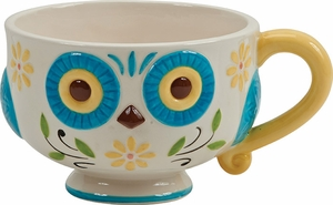 Floral Owl Mighty Mug - Click to enlarge