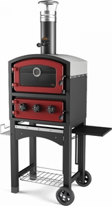 Fornetto Wood Fired Oven & Smoker Empire Red - Click to enlarge
