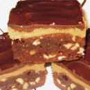 Ganache and Peanut Butter Layered Brownies for Baker's Edge Brownie Pan - Click to enlarge