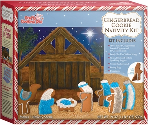 Gingerbread Cookie Nativity Kit - Click to enlarge