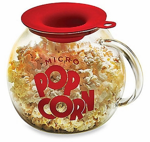 Glass Microwave Popcorn Popper - Click to enlarge