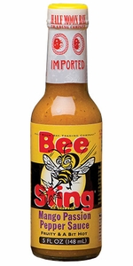 Half Moon Bay Bee Sting Mango Passion Pepper Sauce - Click to enlarge