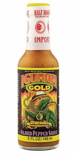 Half Moon Bay Iguana Gold Island Pepper Sauce - Click to enlarge