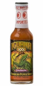 Half Moon Bay Iguana XXX Habanero Pepper Sauce - Click to enlarge