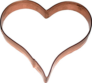 Heart Copper Cookie Cutter - Click to enlarge