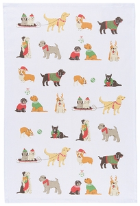 Holiday Pups Towel - Click to enlarge