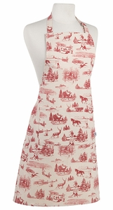 Holiday Toile Apron - Click to enlarge