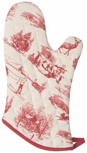 Holiday Toile Mitt - Click to enlarge