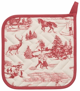 Holiday Toile Potholder - Click to enlarge