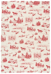 Holiday Toile Towel - Click to enlarge