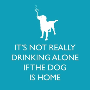 If the Dog is Home Paper Beverage Napkins - Click to enlarge
