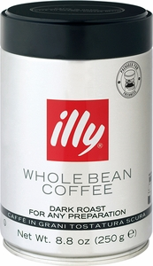 illy Caffe 8.8 oz Dark Roast Whole Bean Coffee - Click to enlarge