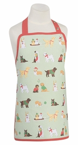 Kid's Holiday Pups Apron - Click to enlarge