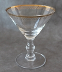 Kiss That Frog Art Deco Gold Martini