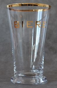 Kiss That Frog Biere Hi Ball with Gold Rim - Click to enlarge