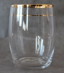 Kiss That Frog Large Antan Gold Glass